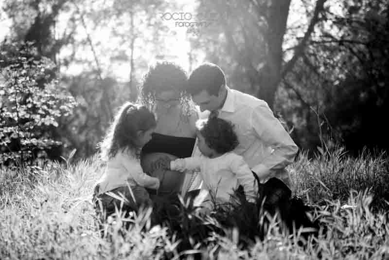 Reportaje de embarazo de Merchi+Jesús+hijas